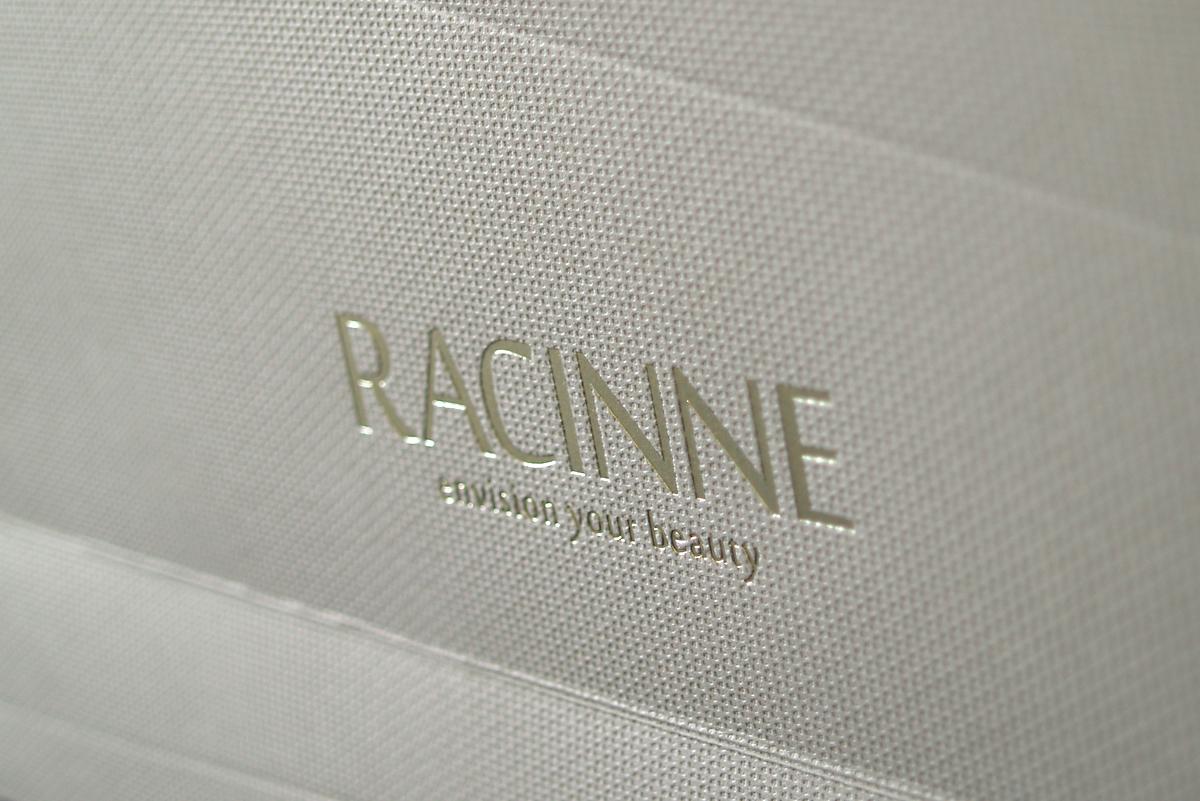 Racinne - bespoke carrier and brochure suite